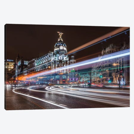 Madrid Traffic Canvas Print #JDL2} by Javier de la Torre Art Print
