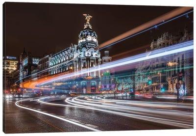 Madrid Traffic Canvas Art Print