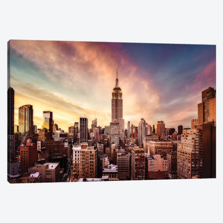 Midtown Sunset Canvas Print #JDL3} by Javier de la Torre Art Print