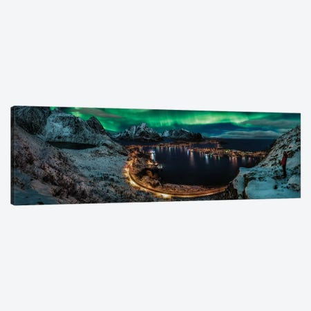 Chasing The Northern Lights 3-Piece Canvas #JDL5} by Javier de la Torre Canvas Artwork