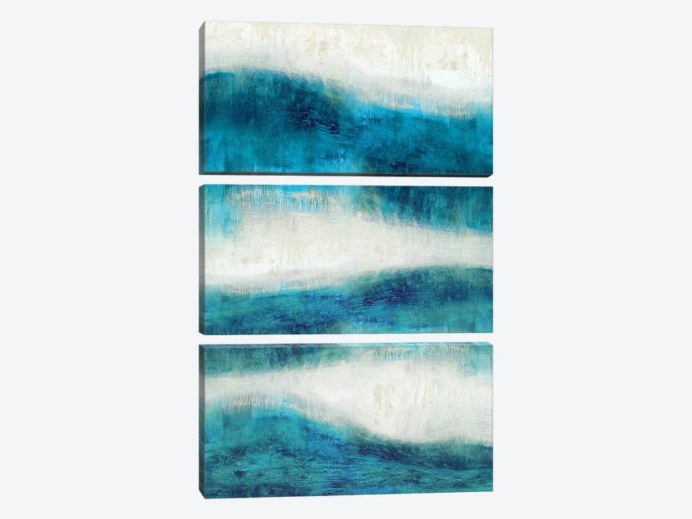 Emerge In Aqua by Jaden Blake 3-piece Canvas Art