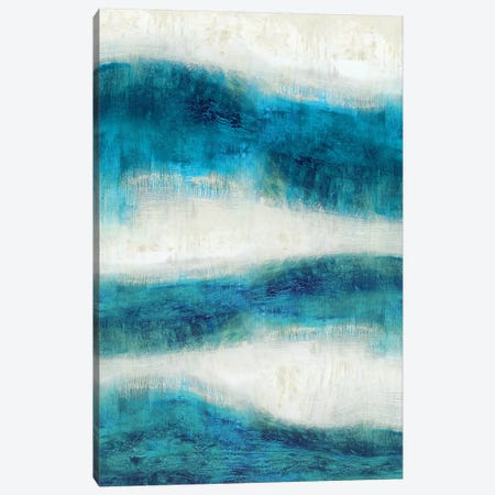 Emerge In Aqua Canvas Print #JDN11} by Jaden Blake Canvas Wall Art