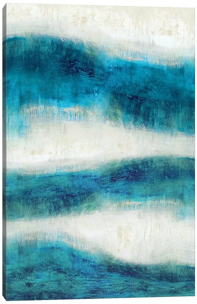 Emerge In Aqua Canvas Art Print