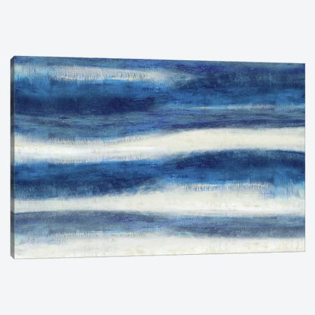 Emerge In Indigo Canvas Print #JDN12} by Jaden Blake Canvas Art
