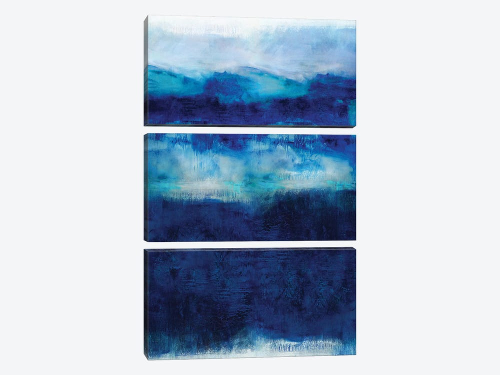 Indigo Dawn 3-piece Canvas Wall Art
