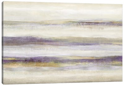 Linear Motion Amethyst Canvas Art Print