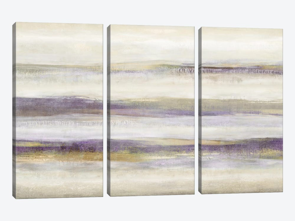 Linear Motion Amethyst by Jaden Blake 3-piece Art Print