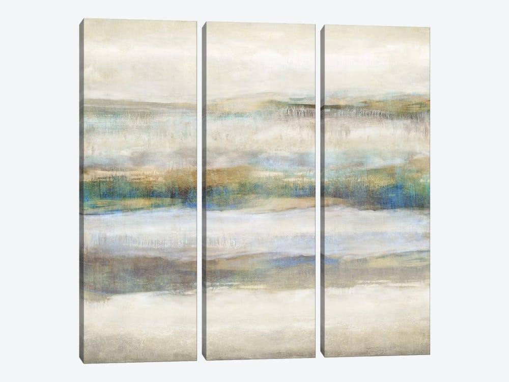 Linear Motion Aqua by Jaden Blake 3-piece Canvas Artwork