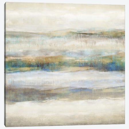 Linear Motion Aqua 3-Piece Canvas #JDN19} by Jaden Blake Canvas Artwork