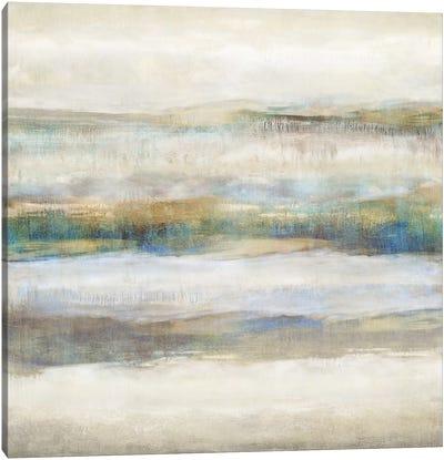 Linear Motion Aqua Canvas Art Print