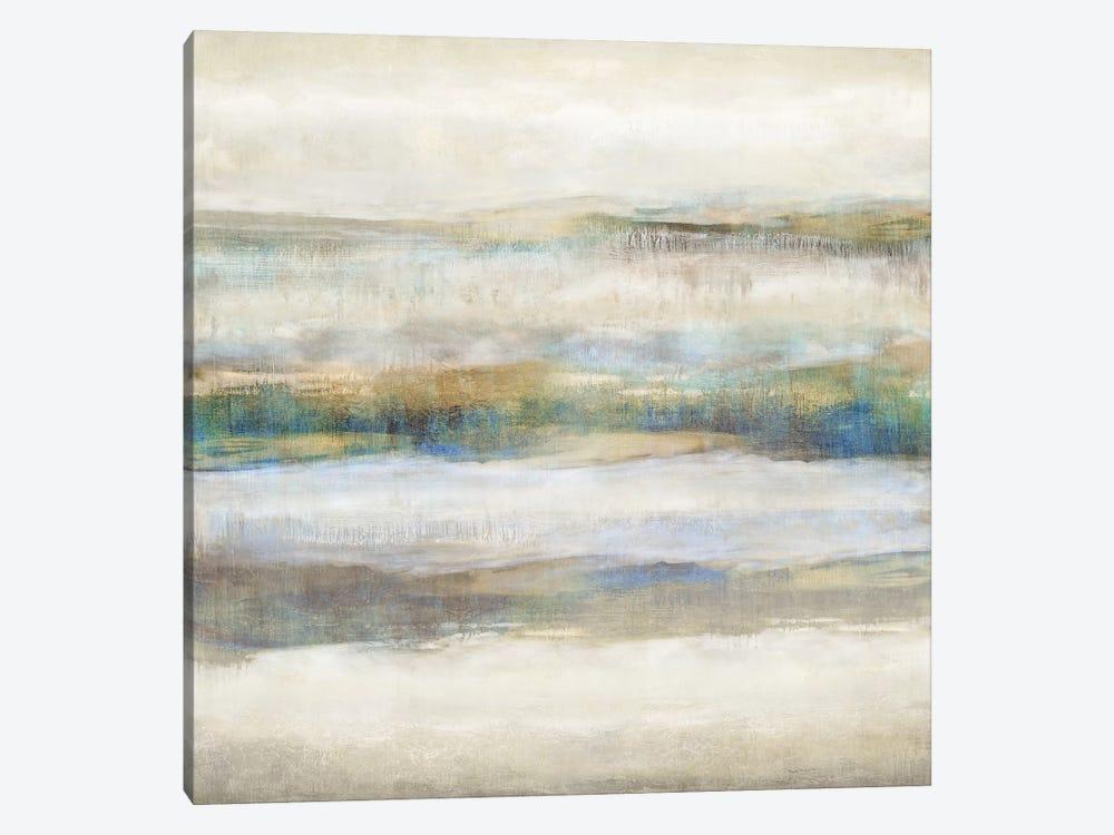Linear Motion Aqua by Jaden Blake 1-piece Canvas Art