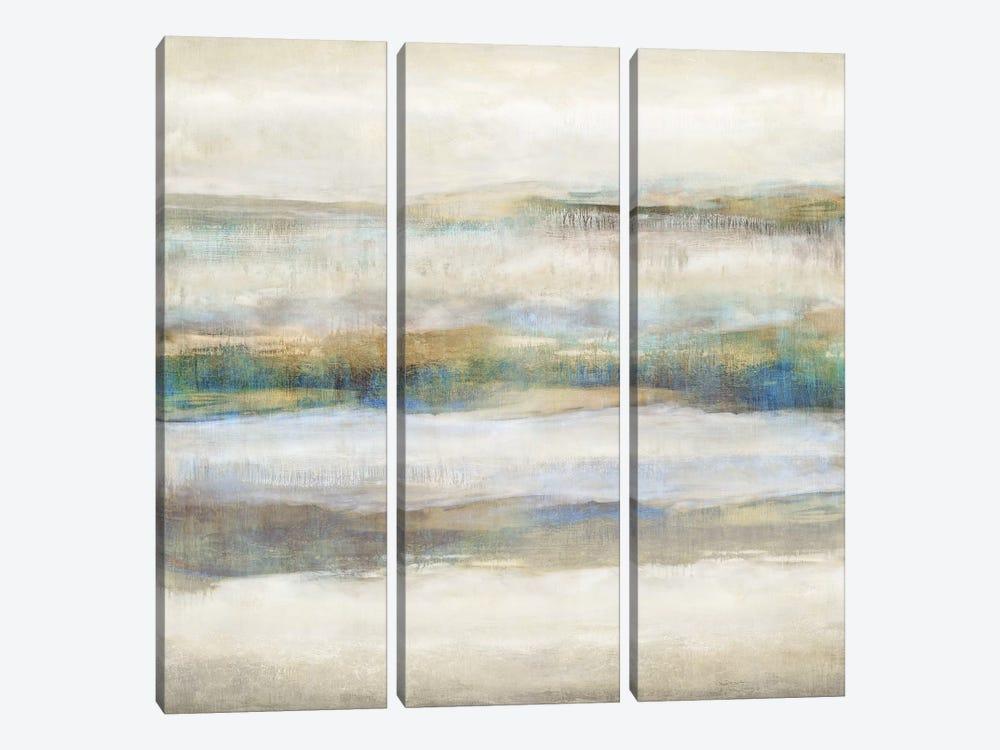 Linear Motion Aqua by Jaden Blake 3-piece Canvas Artwork