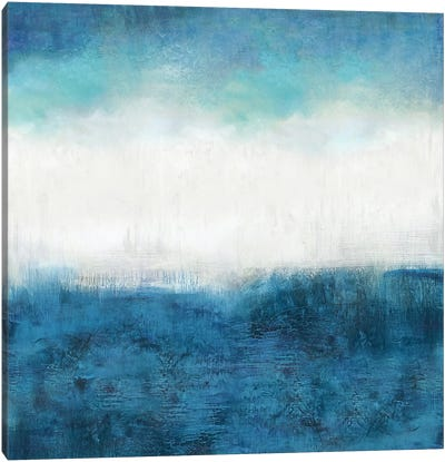 Aqua Dawn Canvas Art Print