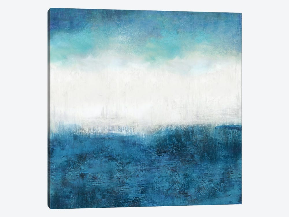 Aqua Dawn 1-piece Canvas Wall Art