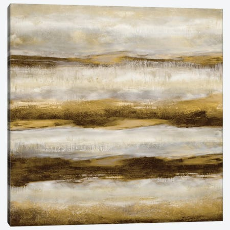 Linear Motion In Golden 3-Piece Canvas #JDN20} by Jaden Blake Canvas Art Print