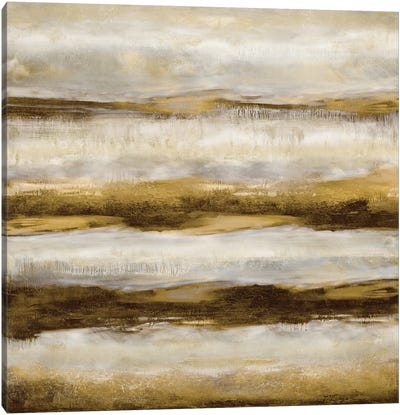 Linear Motion In Golden Canvas Art Print