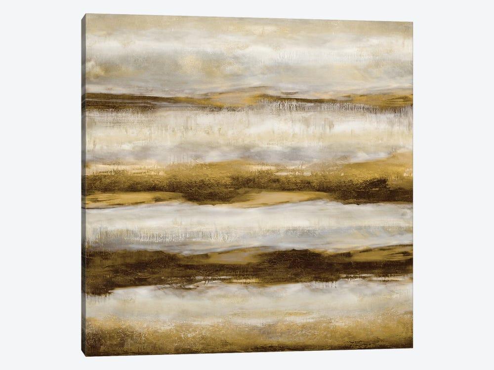Linear Motion In Golden by Jaden Blake 1-piece Canvas Artwork