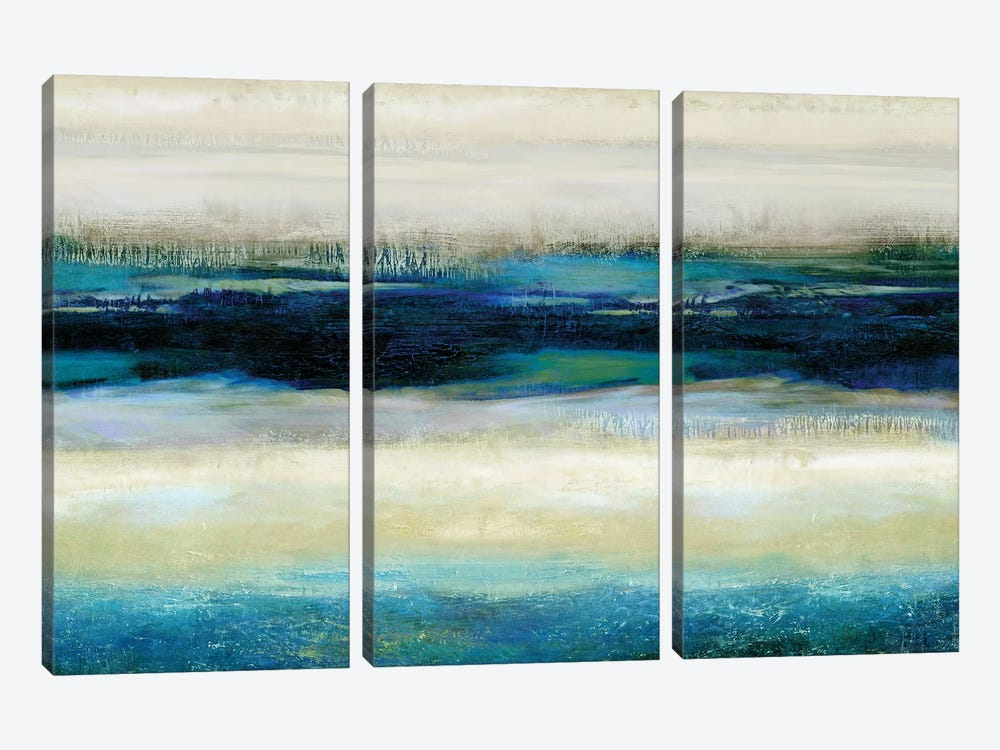 Reflections In Blue by Jaden Blake 3-piece Canvas Art