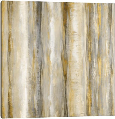 Vertical Motion Golden Canvas Art Print