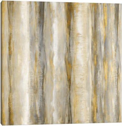 Vertical Motion Golden Canvas Art Print
