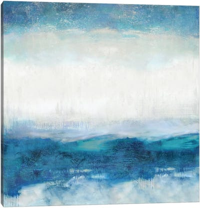 Aqua Motion Canvas Art Print