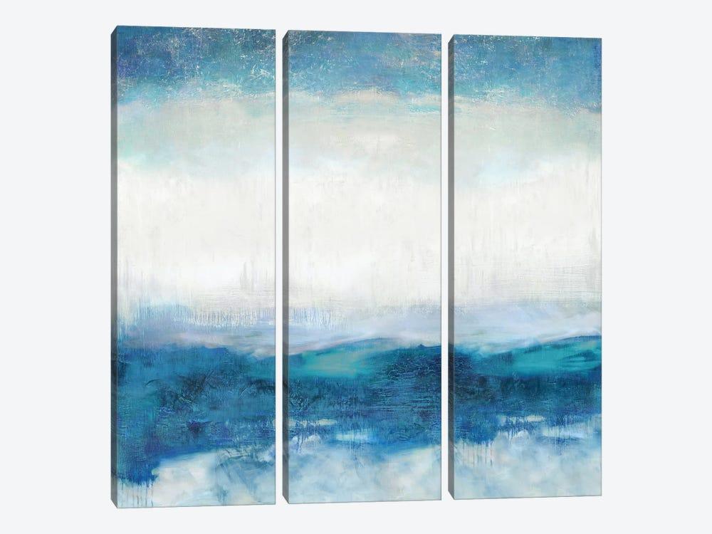 Aqua Motion by Jaden Blake 3-piece Canvas Art Print