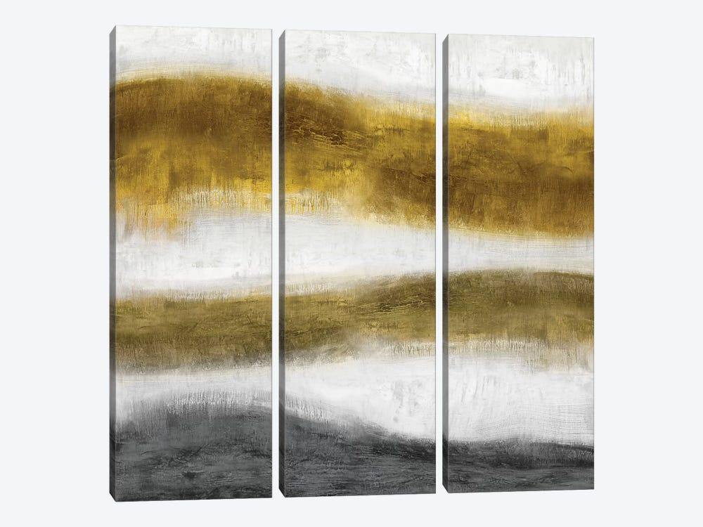 Emerge Golden by Jaden Blake 3-piece Canvas Wall Art