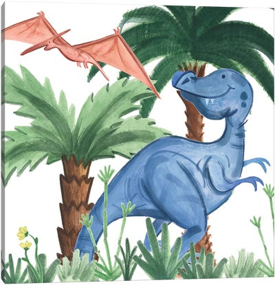 Dino Buddies I Canvas Art Print