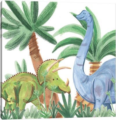 Dino Buddies II Canvas Art Print