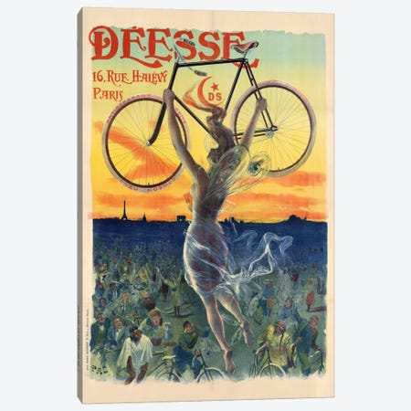 Déesse Cycles Advertisement Canvas Print #JDP1} by Jean de Paleologu Canvas Wall Art