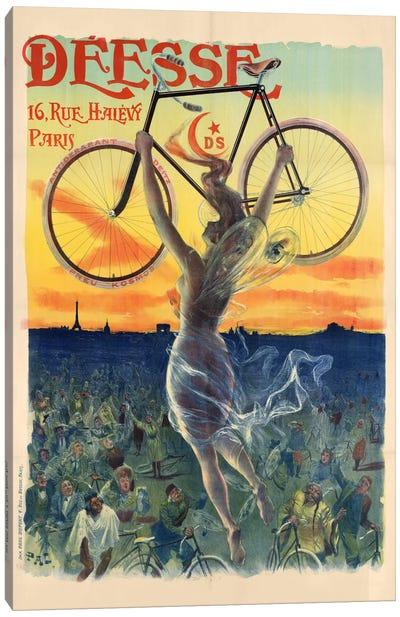 Déesse Cycles Advertisement Canvas Art Print