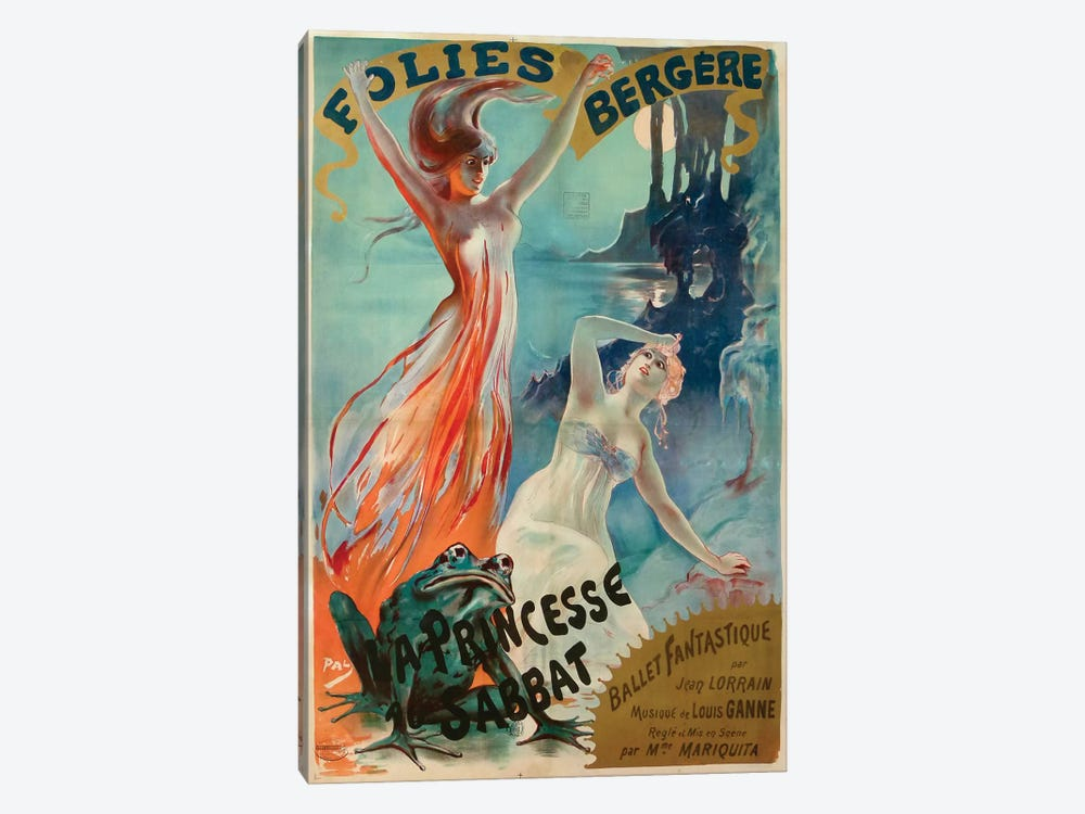 Folies Bergere by Jean de Paleologu 1-piece Canvas Print