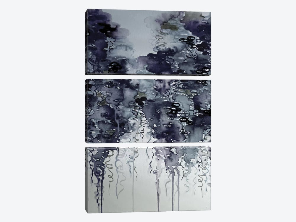 Midnight Showers 3-piece Canvas Art Print