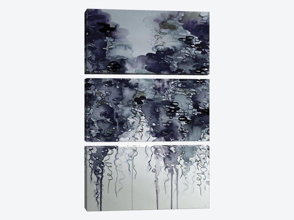 Midnight Showers by Julia Di Sano 3-piece Canvas Art Print