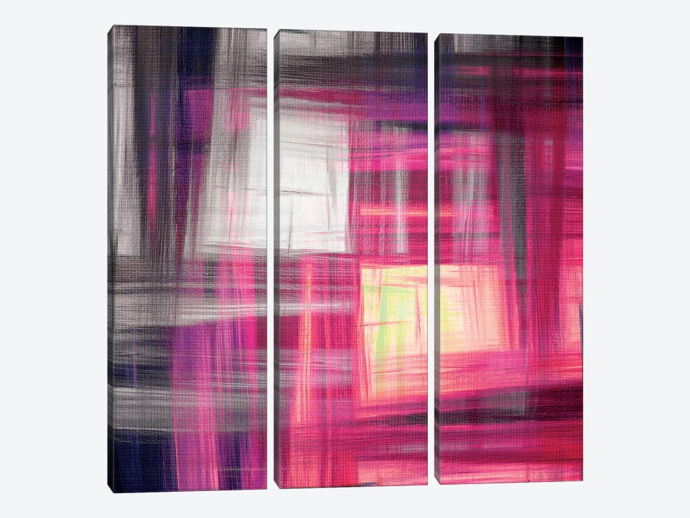 Tartan Crosshatch I by Julia Di Sano 3-piece Canvas Art Print
