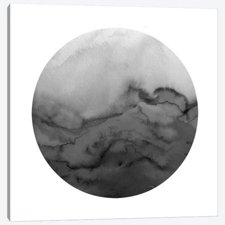 Winter Waves, Circular - Greyscale Canvas Print #JDS136} by Julia Di Sano Art Print