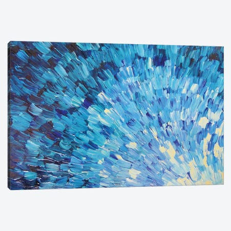 Sea Scales In Indigo Canvas Print #JDS146} by Julia Di Sano Canvas Artwork