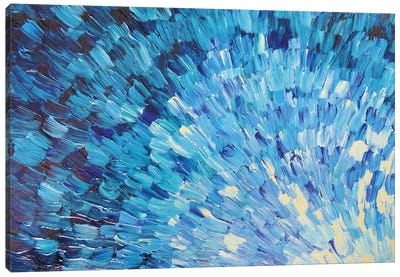 Sea Scales In Indigo Canvas Art Print