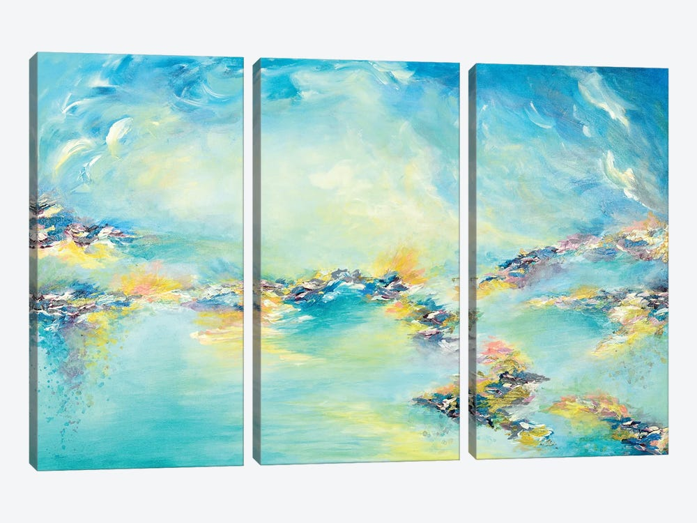 Sea To Sky by Julia Di Sano 3-piece Canvas Art Print