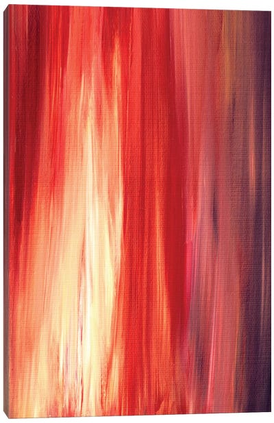Irradiated - Red Canvas Art Print