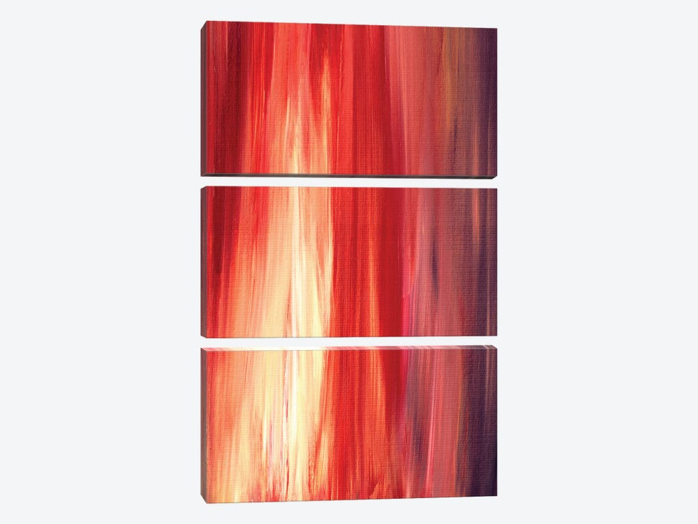 Irradiated - Red by Julia Di Sano 3-piece Canvas Wall Art