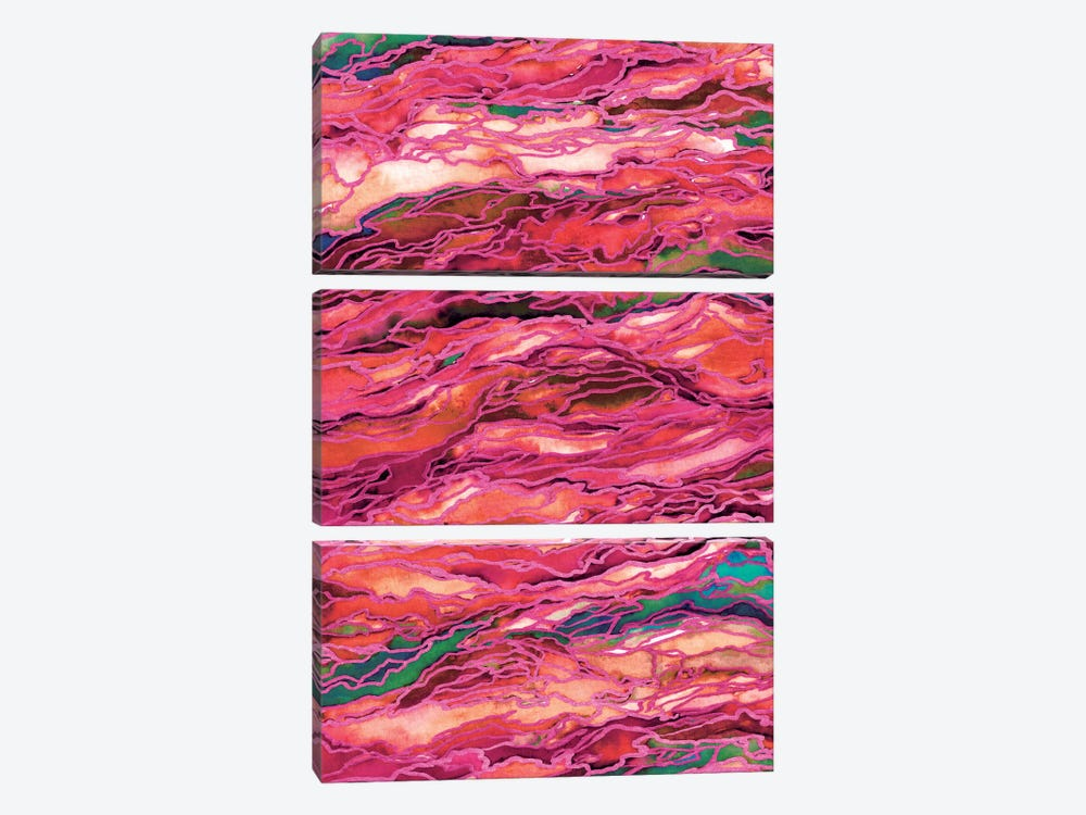 Marble Idea! - Miami Heat by Julia Di Sano 3-piece Canvas Art Print