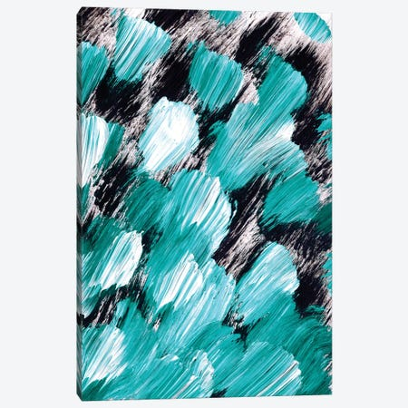 Panache, Teal Canvas Print #JDS179} by Julia Di Sano Canvas Artwork