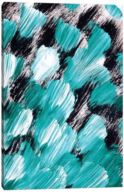 Panache, Teal Canvas Art Print