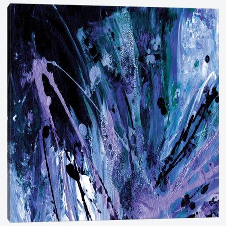 Supernova Splash, Dark Blue Purple Canvas Print #JDS185} by Julia Di Sano Canvas Art