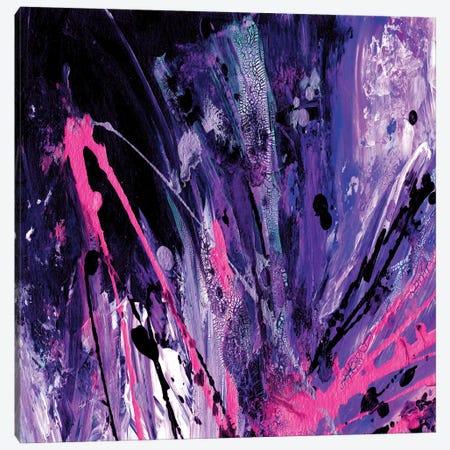 Supernova Splash, Purple Blue Pink Canvas Print #JDS186} by Julia Di Sano Canvas Wall Art