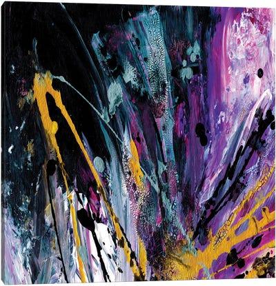 Supernova Splash, Purple Gold Canvas Art Print