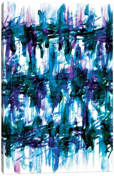 White Noise - Blues Canvas Print #JDS19