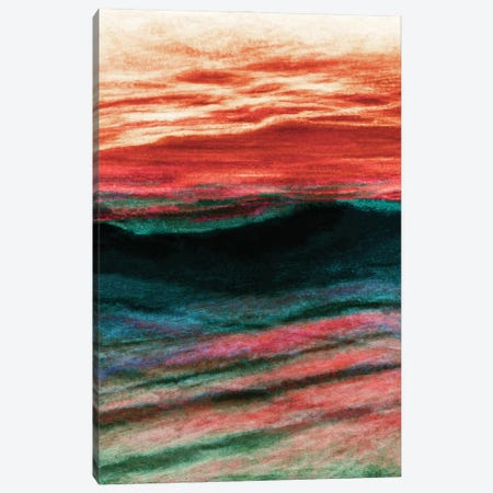 Reflections 2 Inverted, Colorful Ocean Waves Abstract Canvas Print #JDS214} by Julia Di Sano Canvas Artwork