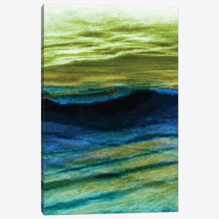 Reflections 4 Inverted, Colorful Ocean Waves Abstract Canvas Print #JDS216} by Julia Di Sano Canvas Artwork